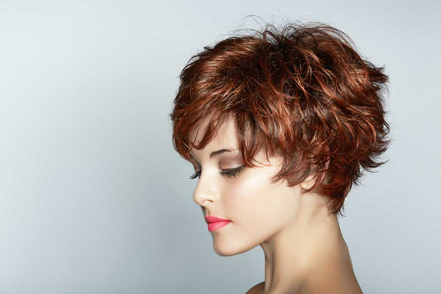 Brown Red Short Hairstyle